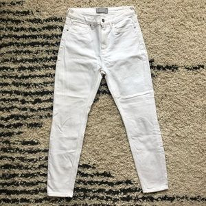 Everlane high rise white jeans